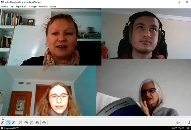 Alumnos de 1º de Traducción y Relaciones Int. (UPO) entrevistan a la escritora alemana Claudia Peter