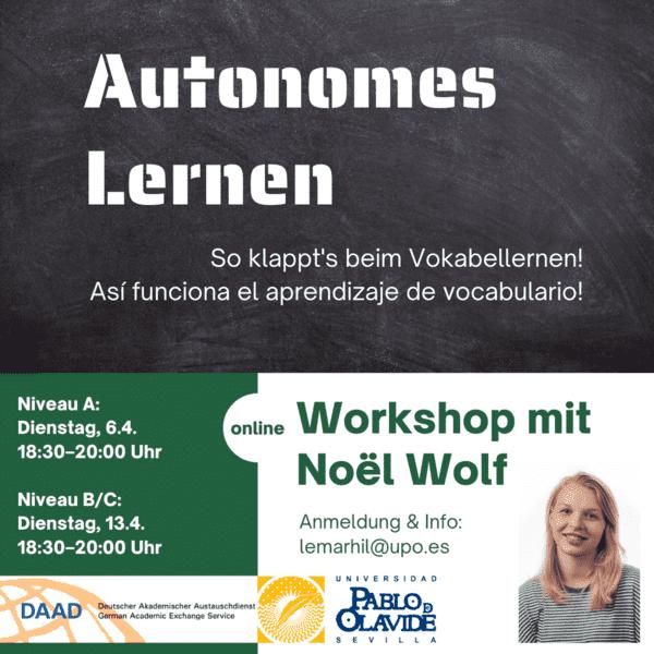 """Workshop """"Aprendizaje autónomo"""" con Noel Wolf en UPO.tv"""